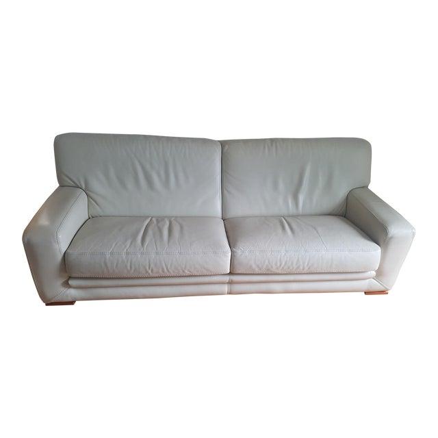 Roche Bobois Leather 3-Seat Sofa For Sale