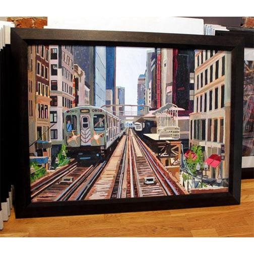 This is for the original painting. acrylic on canvas 32″ x 42″. Measures around 38″ x 48″ with the frame. Really nice,...