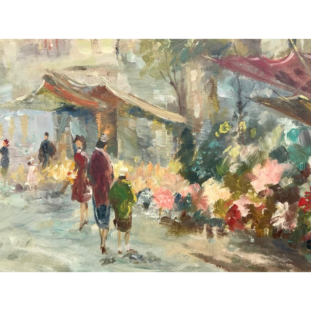 French 1940s Vintage Paris Street Scene Painting For Sale - Image 3 of 8