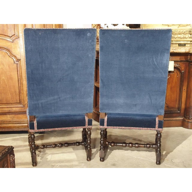 17th Century French Walnut and Saint-Cyr Tapestry Armchairs - a Pair For Sale - Image 4 of 13