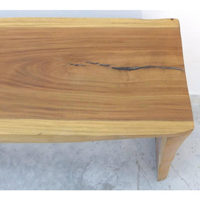 Brown Guarapa Wood Console Table by Brazilian Contemporary Artist Valeria Totti For Sale - Image 8 of 11