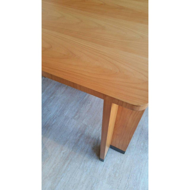 Mid-Century Modern Jacques Quinet Cherrywood Dining Table For Sale - Image 3 of 6