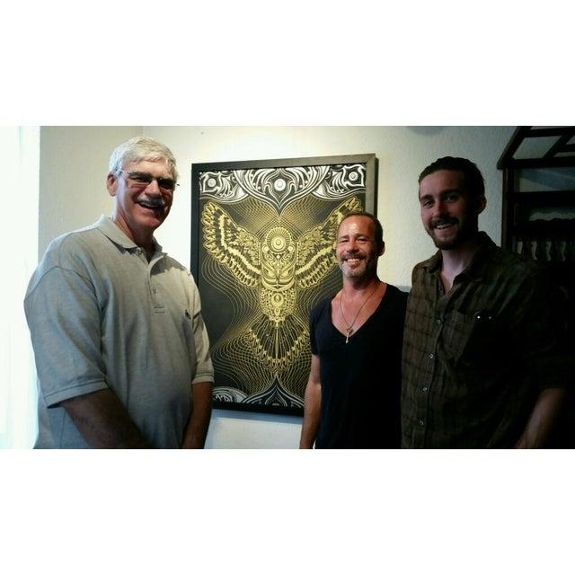 """Owlage"" Original Swarovski Encrusted Painting by Chris Saunders For Sale - Image 11 of 11"