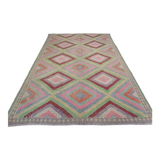 Anatolian Kilim Turkish Embroidery Rug For Sale