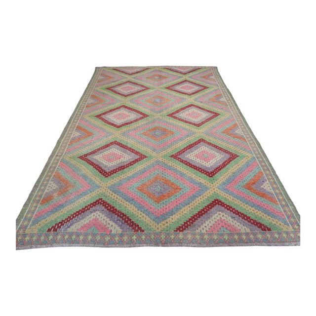 Anatolian Kilim Turkish Embroidery Rug For Sale