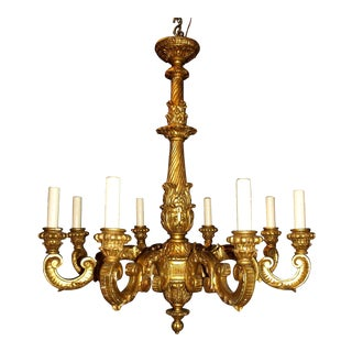 Antique Chandelier. Giltwood Chandelier For Sale