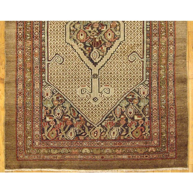 """1910s Antique Persian Hamadan Camel Hair Oriental Rug-3'11'x5'2"""" For Sale - Image 4 of 5"""