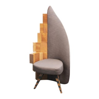 Modern Abstract Guest Chair For Sale
