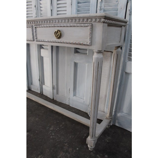20th Century Vintage French Louis XVI Style Console For Sale In Atlanta - Image 6 of 12