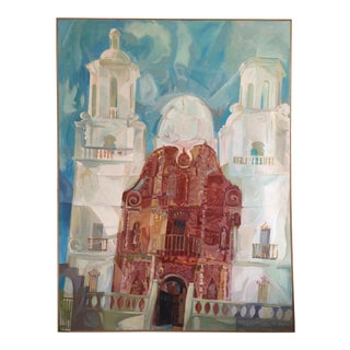 San Xavier Mission Cubist Painting