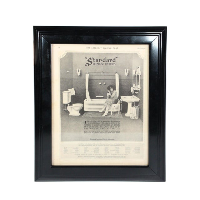 "Framed Art Deco Bathroom Advertisement, ""Saturday Evening Post"" From April 30, 1921 For Sale In Los Angeles - Image 6 of 6"