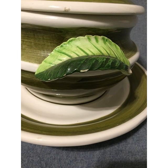 Ceramic Vintage Majolica Mushroom Soup Tureen For Sale - Image 7 of 13