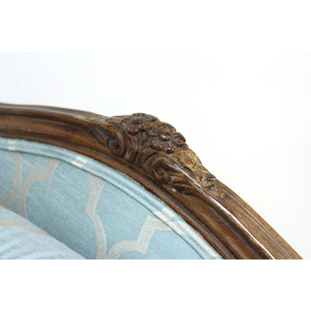 Textile French Louis XV Provincial Style Bergere Chairs For Sale - Image 7 of 11