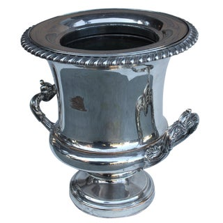 Wine Bucket With Armorial Crest-Lid For Sale