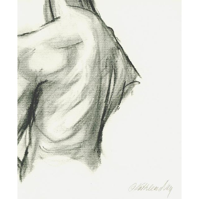 """""""Female Figure Back II"""" charcoal drawing on 11"""" x 13"""" off white Strathmore Series 300 charcoal paper. This drawing has..."""