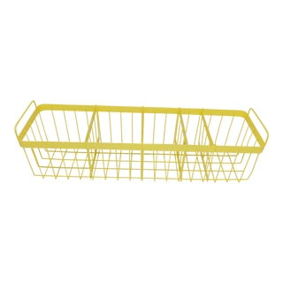 Modern Yellow Wire Bathroom Toiletries Basket
