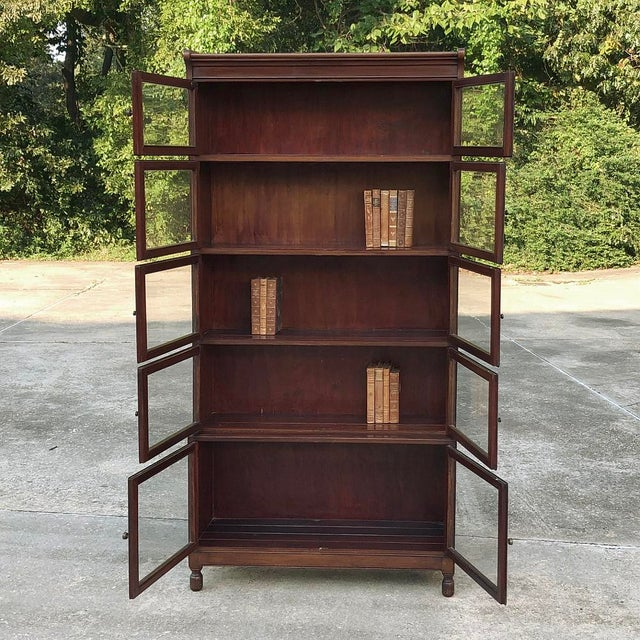 Wood Antique English Mahogany Bookcase ~ File Cabinet For Sale - Image 7 of 12