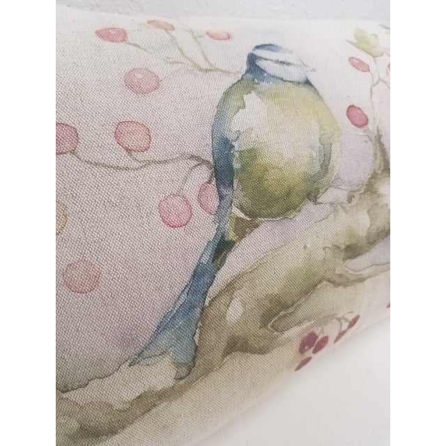 Two Birds With Berries Pillow - Made in Wales For Sale In Dallas - Image 6 of 11