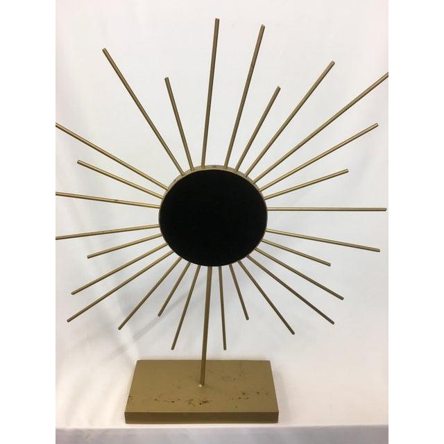 Vintage Gold Metal Starburst Vanity Mirror - Image 5 of 10