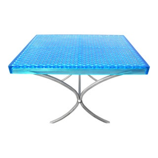Geometric Modern Beehive Resin Dining Table For Sale