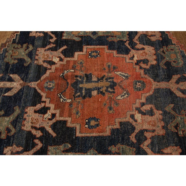 "Vintage Persian Tribal Bakshaish Rug, 8'0"" X 9'6"" For Sale In New York - Image 6 of 12"