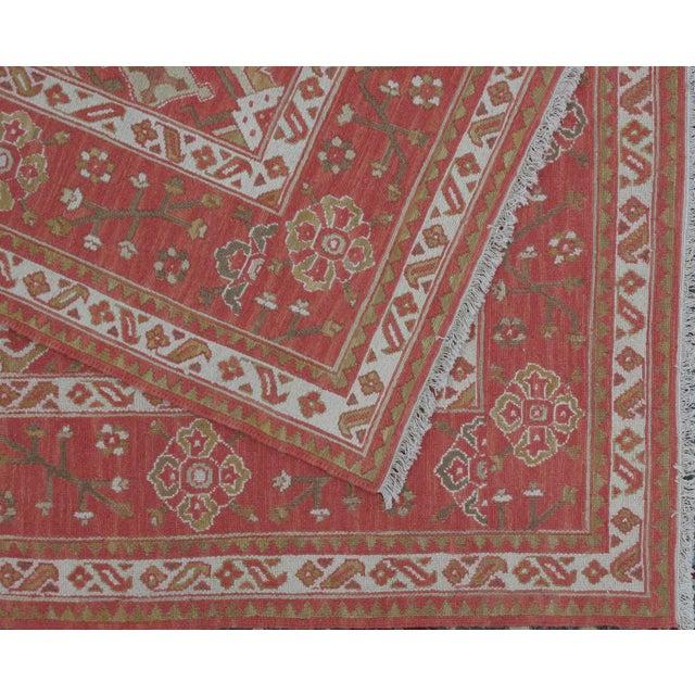 Soumak Design Hand Woven Wool Rug - 9' X 12' - Image 4 of 5