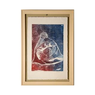 """1980s Vintage Novotny """"Star Watcher"""" Framed Print For Sale"""