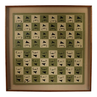"""Chessboard """"Homaage á Marcel Duchamp"""" with the L.H.O.O.Q. Mustache by Arman For Sale"""