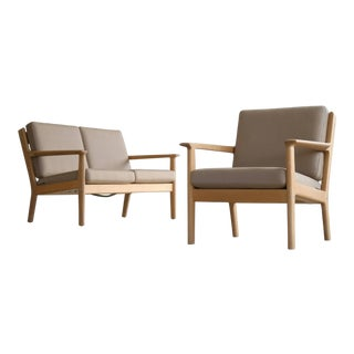 Loveseat and Easy Chair Model Ge-265 by Hans Wegner for Getama, Denmark