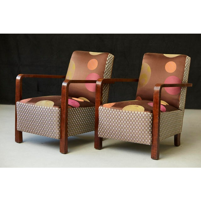 Pair of 1920s Art Deco Lounge Chairs from Buenos Aires For Sale - Image 4 of 11