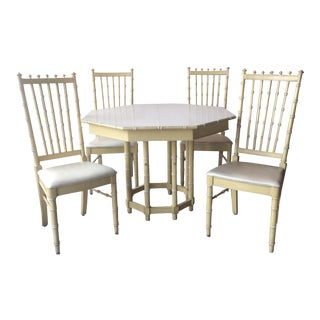 Thomasville Faux Bamboo Dining Table and Chairs