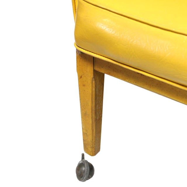 Lemon Yellow Vinyl Accent Chair - Image 10 of 10