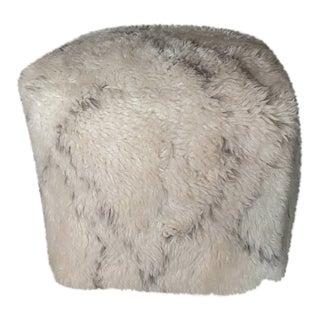Restoration Hardware Nisa Wool Shag Pouf For Sale