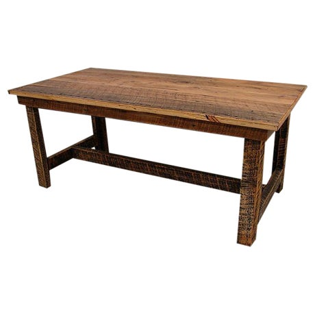 Reclaimed Harvest Farm Table - Image 1 of 3