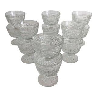 1950s Vintage Cut Crystal Goblet Cocktail Glasses- 12 Pieces For Sale
