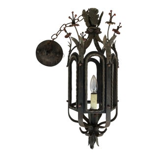 Cast Iron Foliage Hanging Light Fixture