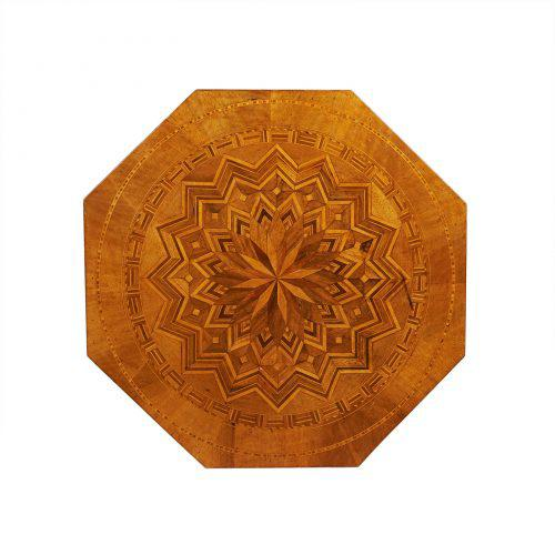 Black Circa 1870 Inlaid Italian Octagonal Table For Sale - Image 8 of 9