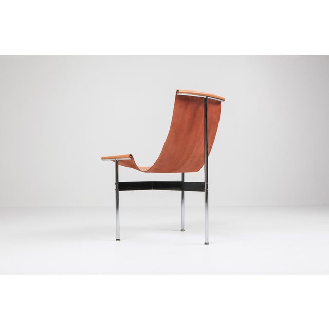 Katavolos, Kelley and Littell, chair, chrome-plated steel, enameled steel and cognac leather, United States, 1952. The...