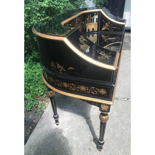 Chinoiserie Black Lacquer Curved Writing Desk Preview