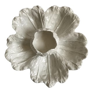 Cabbage Shaped Serving Platter With Bowl