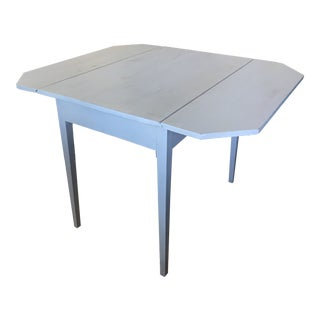 19th Century Country Blue-Gray Dropleaf Table For Sale