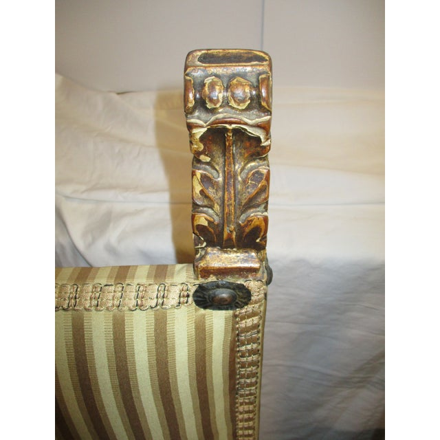 Textile 17th Century Style Italian Side Chairs - a Pair For Sale - Image 7 of 8