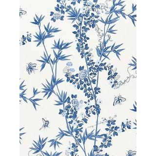 Scalamandre Jardin De Chine, Porcelain Fabric For Sale