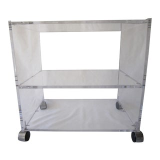 Lucite Trolley Table