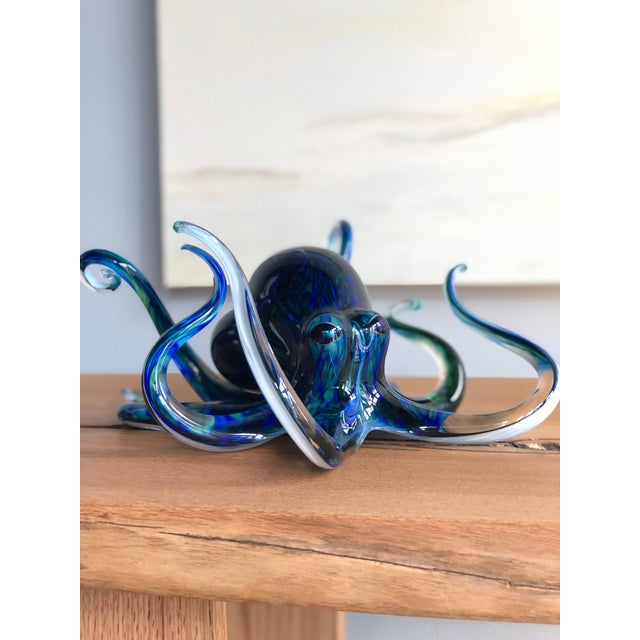 Handblown Glass Octopus by Michael Hopko For Sale In Jacksonville, FL - Image 6 of 9