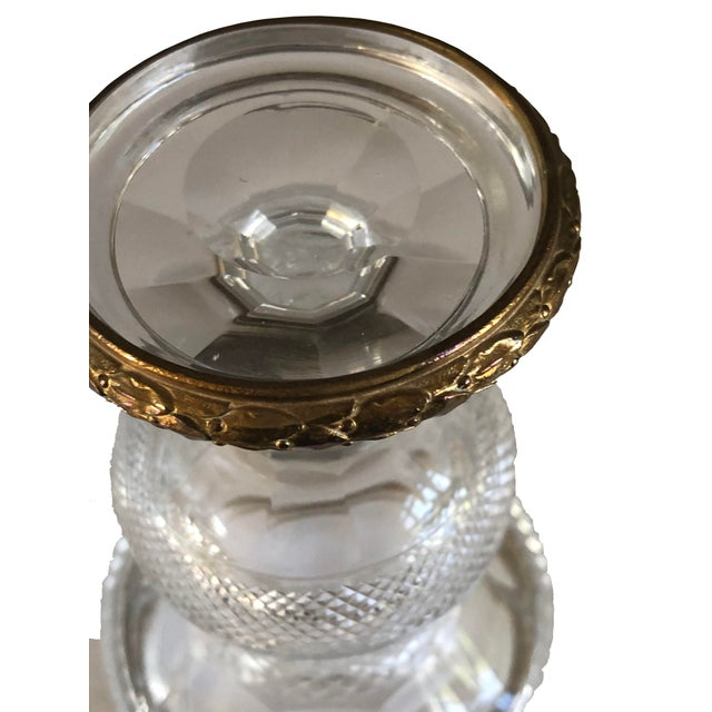 Mid 19th Century Miniature Urns Cut Crystal and Bronze - a Pair For Sale - Image 5 of 7