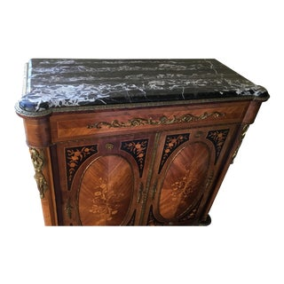 Antiques Bronze and Marble Top Cabinet For Sale