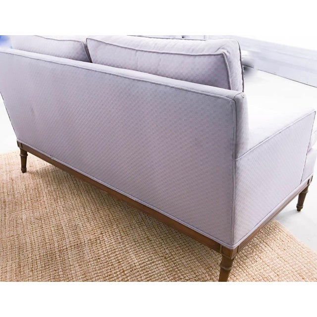 Mid-Century Faux Bamboo Small Sofas - A Pair - Image 6 of 9