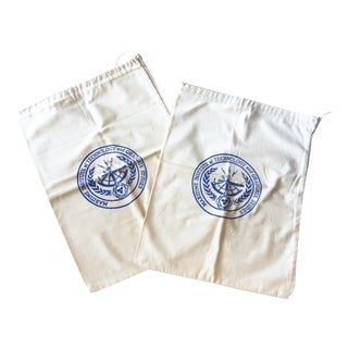 Vintage Nautical Drawstring Bags - a Pair For Sale
