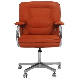 Guido Faleschini for I4 Mariani, Pace Collection, Leather Management Desk Chairs For Sale